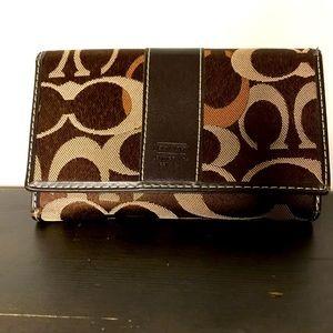 Coach brown medium wallet